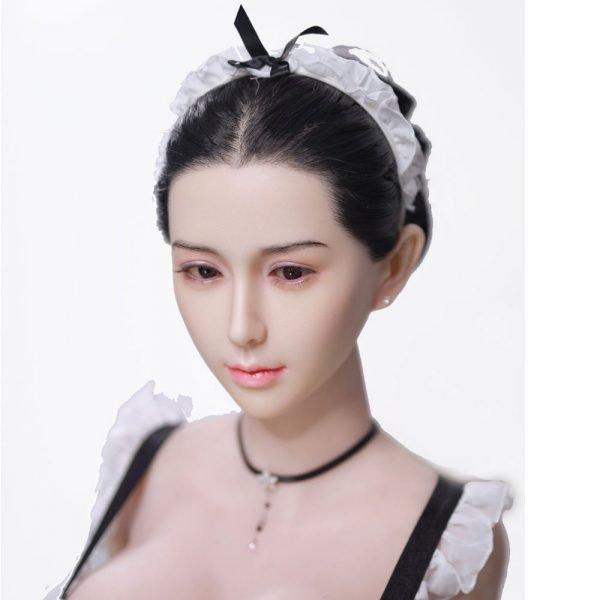 silicone head doll